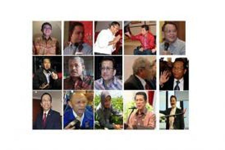 Para kandidat yang diundang dalam Konvensi Capres Demokrat