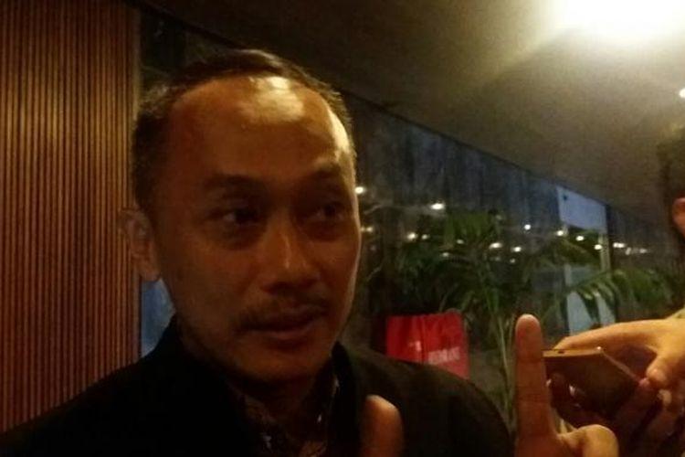 Direktur Jenderal Kependudukan dan Catatan Sipil, Zudan Arif Fakhrulloh usai Rapat Kerja Kementerian Dalam Negeri dengan Komisi II DPR RI di Kompleks Parlemen, Senayan, Jakarta, Senin (29/2/2016)