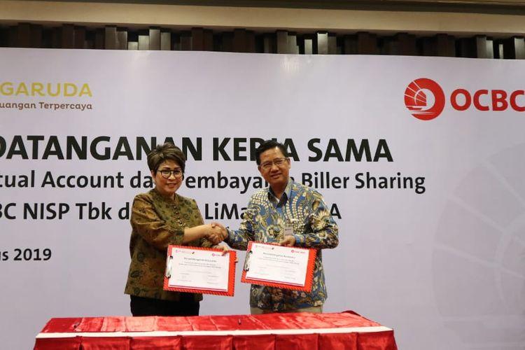 Penandatanganan kerja sama antara OCBC NISP dan KSP LiMa Garuda di Jakarta, Rabu (7/8/2019).