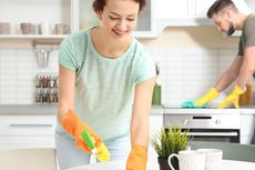 Cara Cepat Membersihkan Dapur, Bisa Cuma 5 Menit