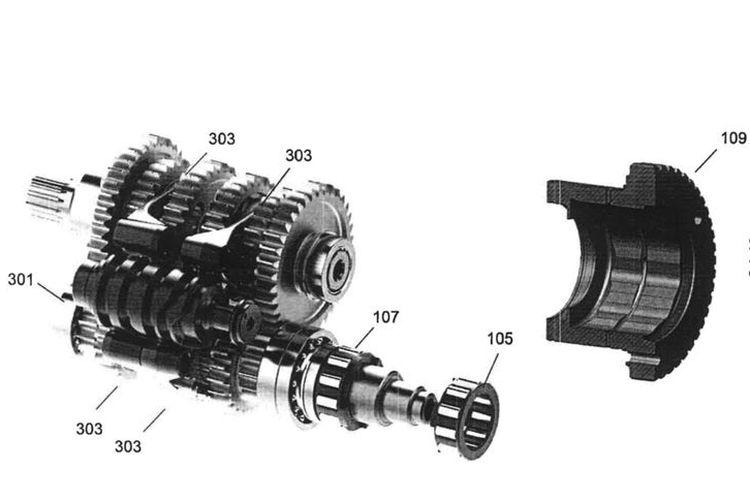 Paten seamless shift gearbox milik Ducati untuk motor produksi massal