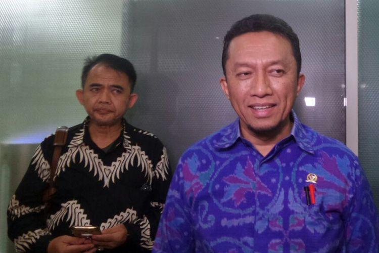 Wakil Ketua Fraksi PKS Tifatul Sembiring di Kompleks Parlemen, Senayan, Jakarta, Senin (4/9/2017).