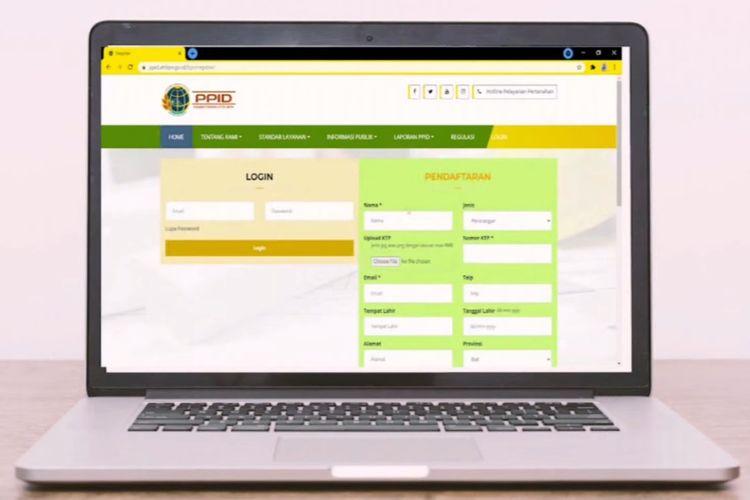 Begini cara mengajukan permohonan informasi online Kementerian ATR/BPN.