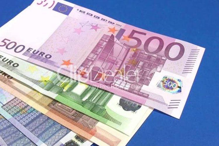 Ilustrasi mata uang euro