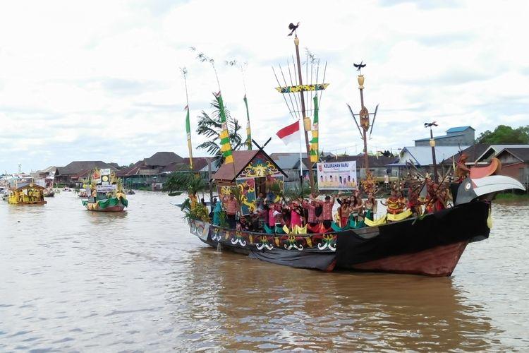 Festival Batang Arut di Pangkalan Bun, Kalimantan Tengah, Selasa (3/10/2017).