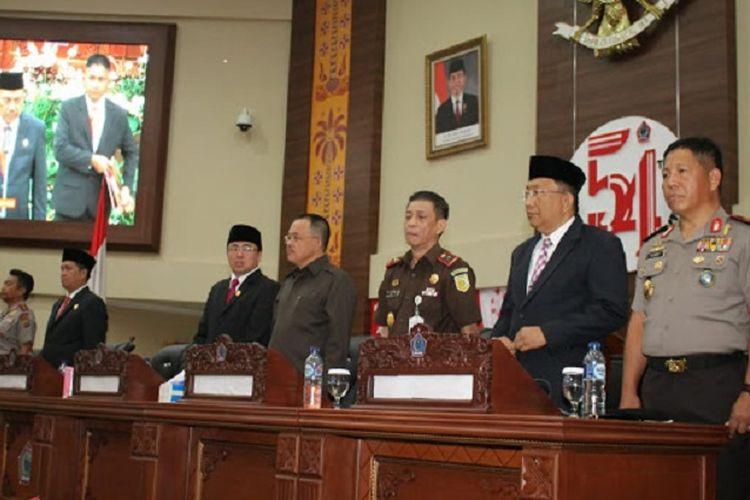 Gubernur Sulawesi Utara Olly Dondokambey lantik 5 kepala daerah, Selasa (25/9/2018).