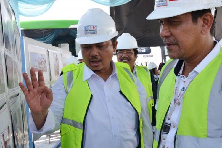Wakil Ketua Komisi V Dewan Perwakilan Rakyat (DPR) RI Sigit Sosiantomo saat melakukan Kunjungan Kerja Spesifik Komisi V DPR RI ke Pelabuhan Belawan, Medan, Sumatera Utara