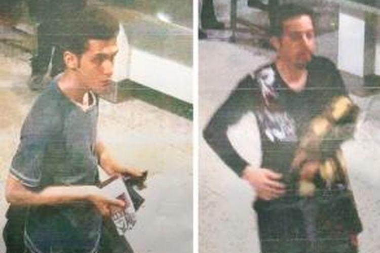 Kepolisian Malaysia, Selasa (11/3/2014), merilis foto dua orang pria penumpang Malaysian Airlines MH370 yang menggunakan paspor curian. Pouria Nour Mohammad Mehrdad (kiri) adalah penumpang yang menggunakan paspor Austria, sementara