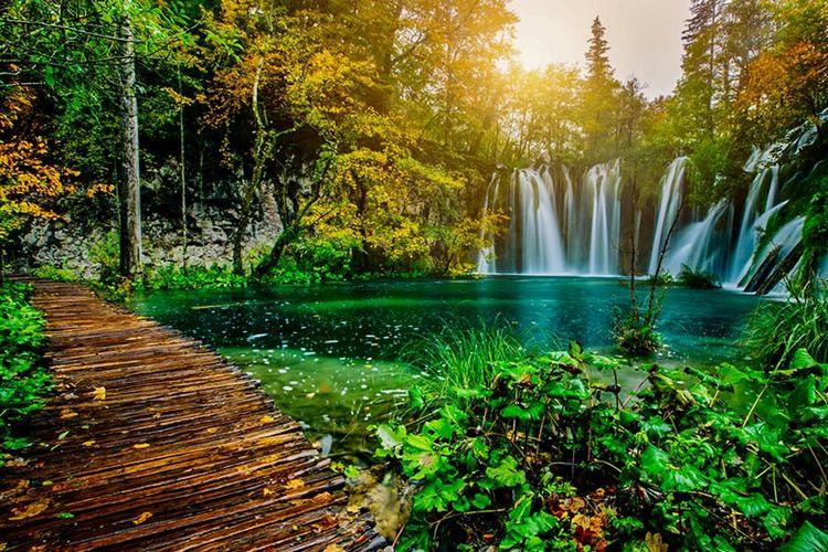 Danau Plitvice, Kroasia.