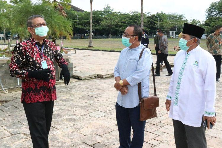 Gubernur Kalbar Sutarmidji mengecek kesiapan Masjid Raya Mujahidin gelar shalat Jumat (5/6/2020).