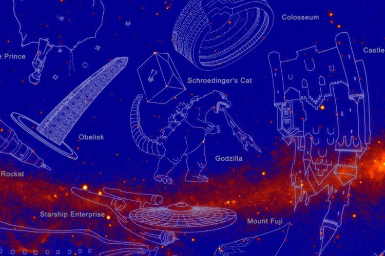 NASA baru saja mengumumkan daftar nama konstelasi sinar gamma. Berikut penampakannya.