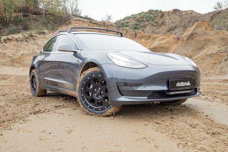 odifikasi Tesla Model 3 off-road