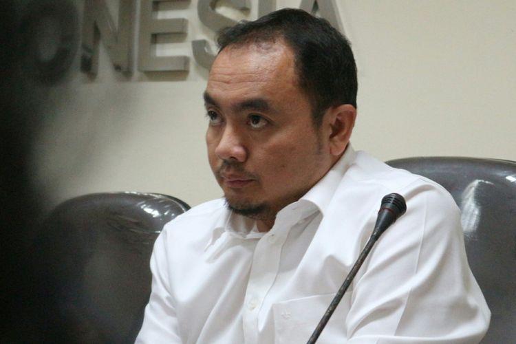 Anggota Badan Pengawas Pemilu (Bawaslu) RI Mochammad Afifuddin di Kantor Bawaslu RI, Jakarta, Rabu (21/3/2018).