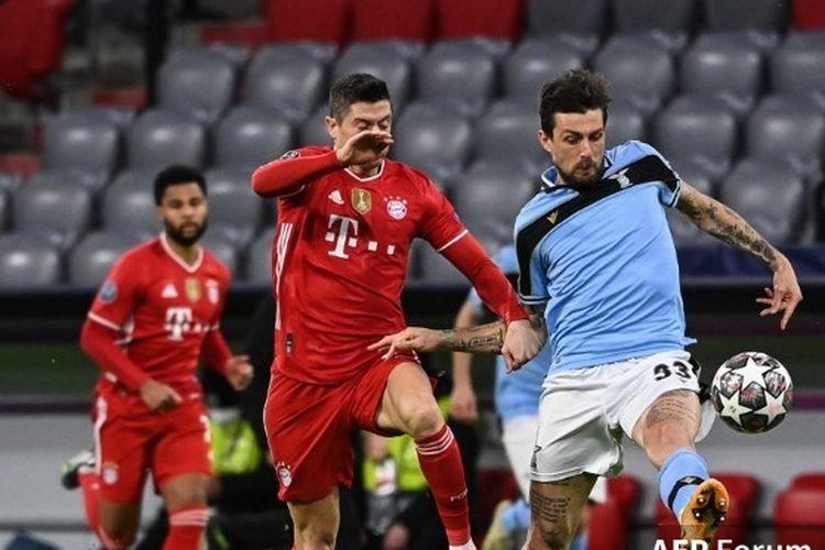 Pertandingan Bayern Muenchen vs Lazio pada leg kedua babak 16 besar Liga Champions di Allianz Arena, Rabu (17/3/2021) atau Kamis (18/3/2021) dini hari WIB.