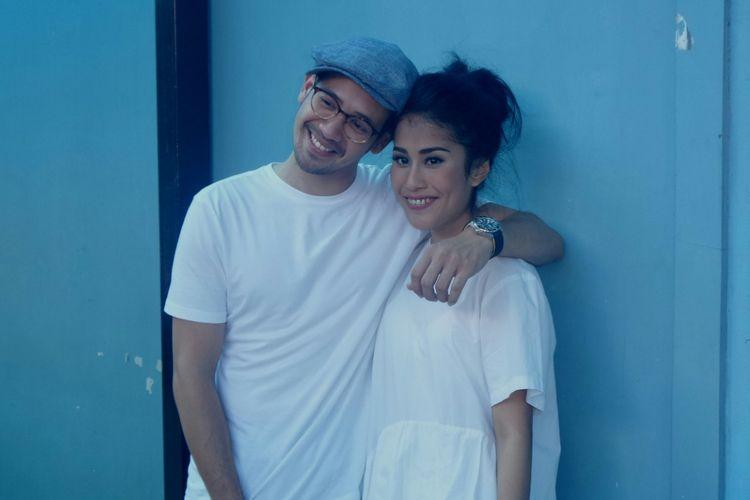 Tarra Budiman dan Gya Sadiqah diabadikan di studio TransTV, Mampang, Jakarta Selatan, Kamis (19/1/2017).