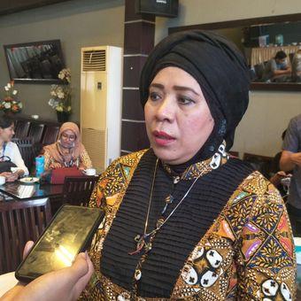 Ketua DPP Partai Persatuan Pembangunan (PPP) Lena Maryana Mukti seusai menjadi pembicara dalam diskusi Populi Center dan Smart FM Network di kawasan Menteng, Jakarta Pusat, Sabtu (14/7/2018).