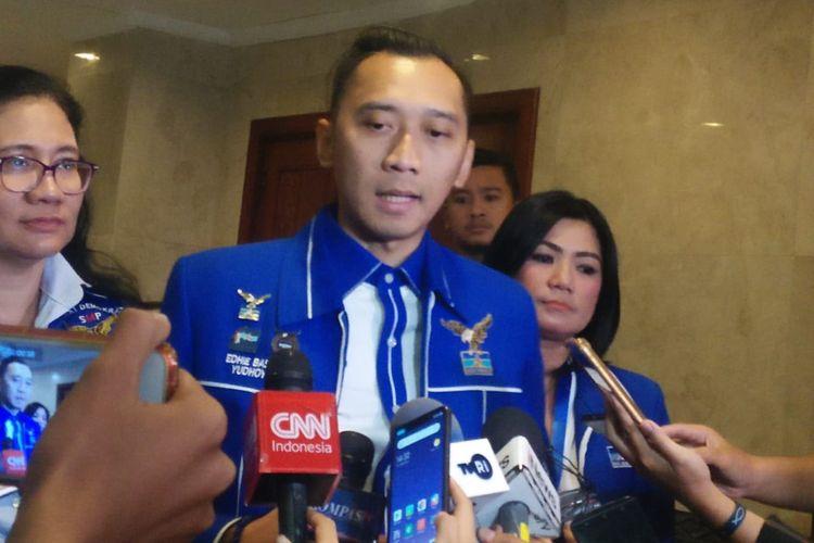 Ketua Fraksi Partai Demokrat di DPR, Edhie Baskoro Yudhoyono di JCC Senayan, Jakarta, Selasa (10/9/2019).