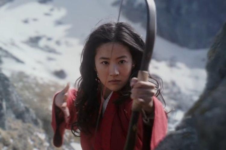 Aksi Crystal Liu sebagai Mulan