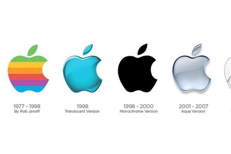 Logo Apple dari masa ke masa