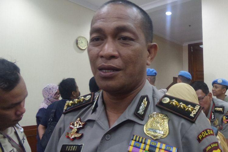 Kepala Bidang Humas Polda Jawa Barat Kombes Pol Yusri Yunus di kompleks Mabes Polri, Jakarta, Rabu (15/3/2017).