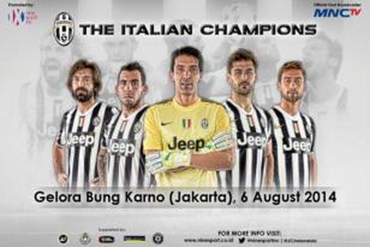 Juventus akan berkunjung ke Jakarta untuk melakoni laga uji coba melawan Indonesia Selection di Stadion Utama Gelora Bung Karno, Senayan, 6 Agustus 2014.