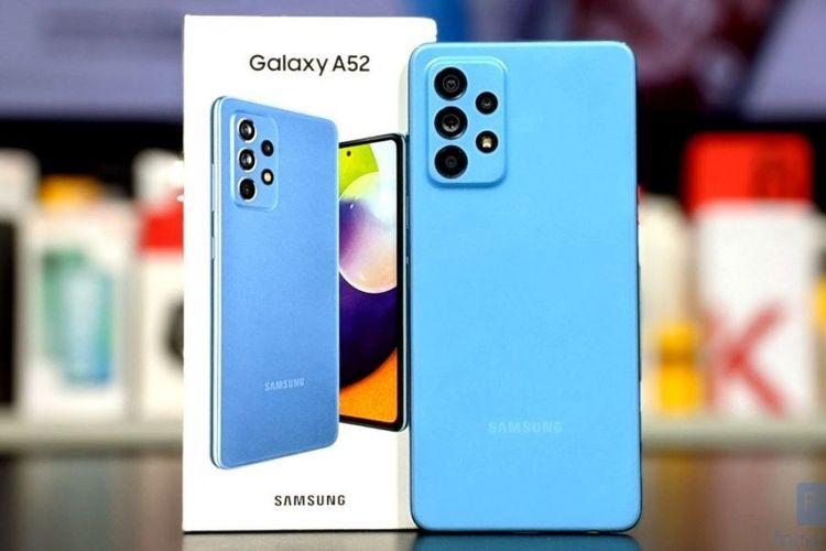Samsung Galaxy A52 varian Awesome Blue