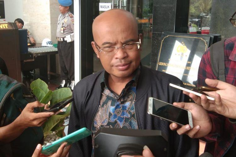 Desmond Mahesa Wakil Ketua Komisi lll DPR datang ke Polda Metro Jaya, Senin (9/7/2018)