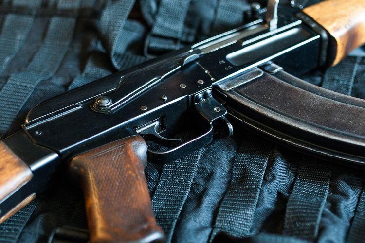 Ilustrasi senapan serbu AK-47 Kalasnikov.