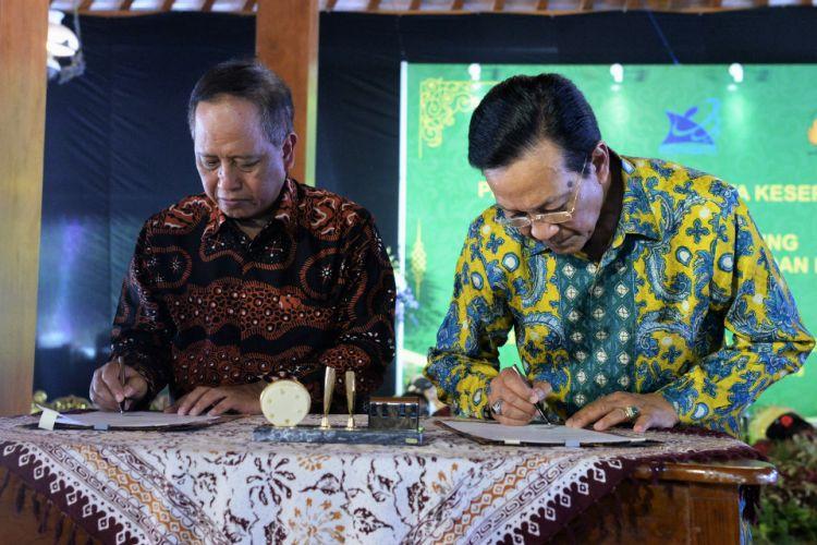 Menristekdikti Mohamad Nasir meresmikan Gedung Akademi Komunitas Negeri Seni dan Budaya Yogyakarta pada Sabtu (2/2/2019) di Kabupaten Bantul, Yogyakarta.