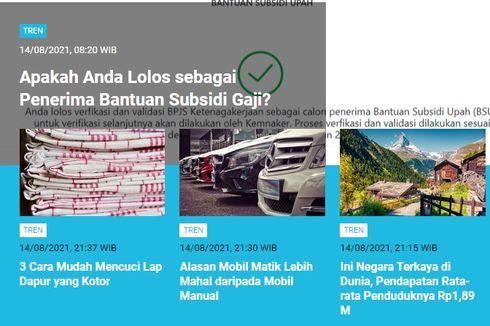 [POPULER TREN] Tanda Lolos sebagai Penerima Bantuan Subsidi Gaji | Penjelasan Kemenkes soal Harga PCR di India Lebih Murah Dibandingkan Indonesia