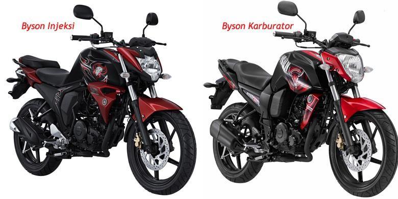 Yamaha Byson terbaru (kiri) dan Yamaha Byson lama, cukup banyak perbedaannya.