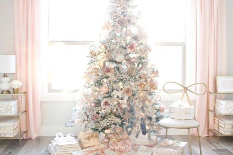 Dekorasi Natal Bernuansa Pink Menenangkan Dan Syahdu