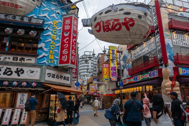 Restoran Zuboraya di Osaka, Jepang.