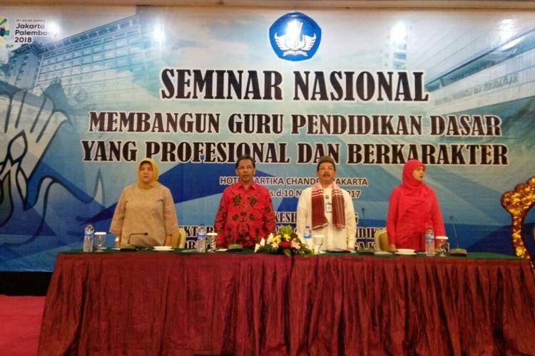 Seminar Nasional Pendidikan Dasar 2017 yang digelar di Jakarta pada 7 hingga 10 November 2017 diikuti 240 guru dari 29 daerah.