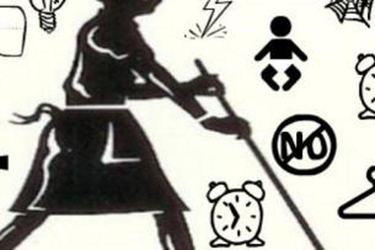 Ilustrasi pembantu rumah tangga.