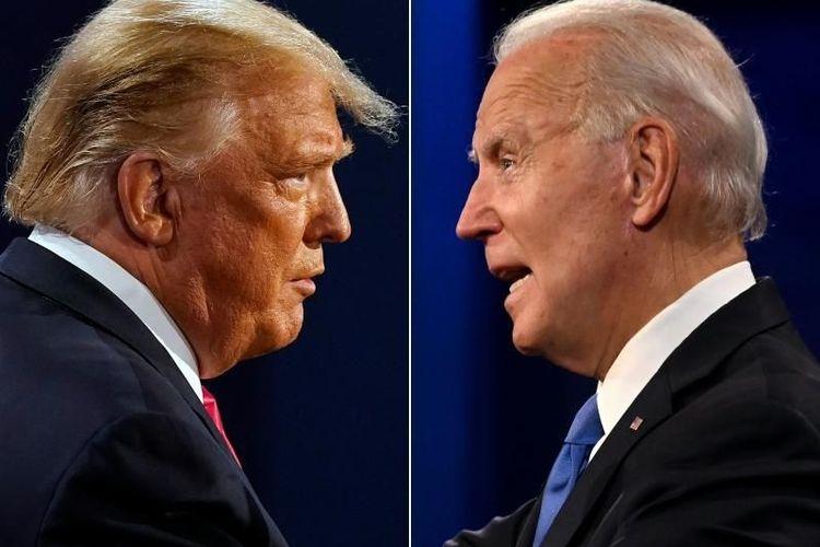 Calon Presiden Partai Republik Presiden Petahana Donald Trump dan Calon Presiden Partai Demokrat mantan Wakil Presiden Joe Biden