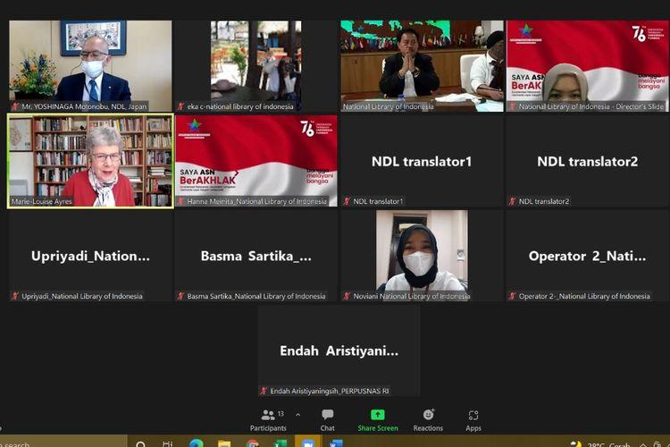 Konferensi Kepala Perpustakaan Nasional Dunia (Conference of Directors of National Libraries/CDNL) digelar secara daring pada 7 September 2021.