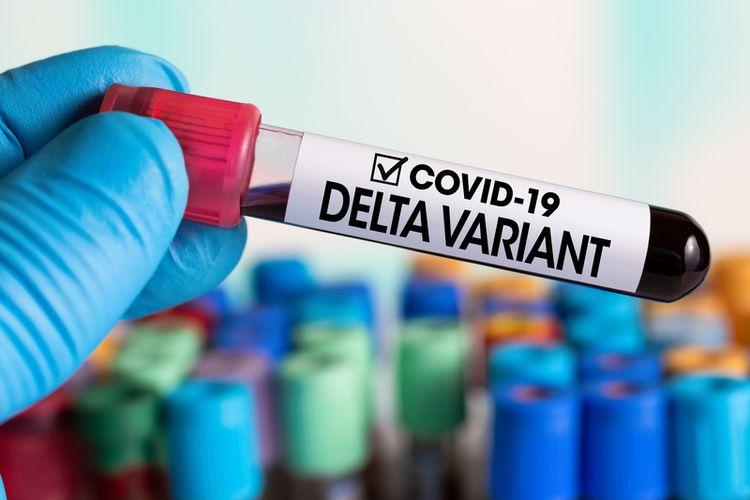 Ilustrasi covid varian delta