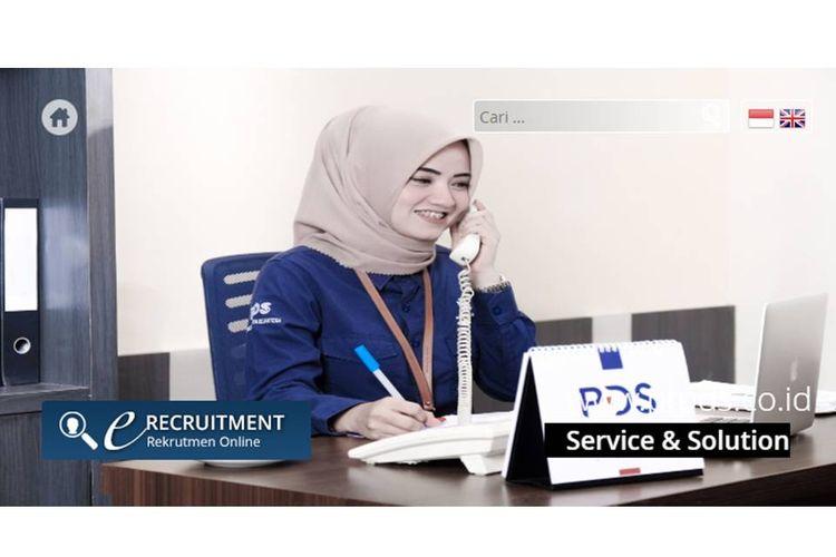 Tangkapan layar halaman utama website PT Pelindo Daya Sejahtera yang merupakan anak perusahaan PT Pelindo III.