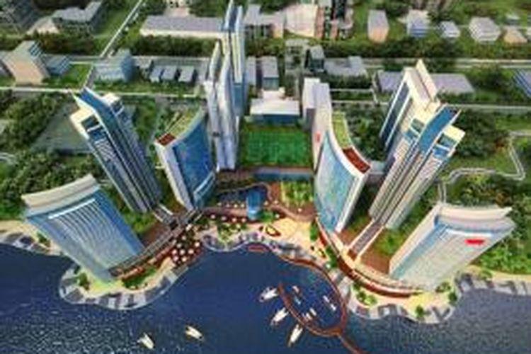 Monaco Bay, yang akan dikembangkan di lahan seluas 8 hektar itu, didesain oleh tim arsitek internasional. Di atas resor ini rencananya akan berdiri 8 landmark tower dan akan dilakukan pembangunan tahap pertama di area seluas 2,2 hektar.