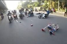Pesepeda Brompton Ditabrak Motor di TB Simatupang, Korban Luka-luka