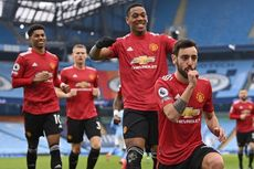 Man City Vs Man United, Penalti Cepat Bruno Fernandes Pembeda Babak I