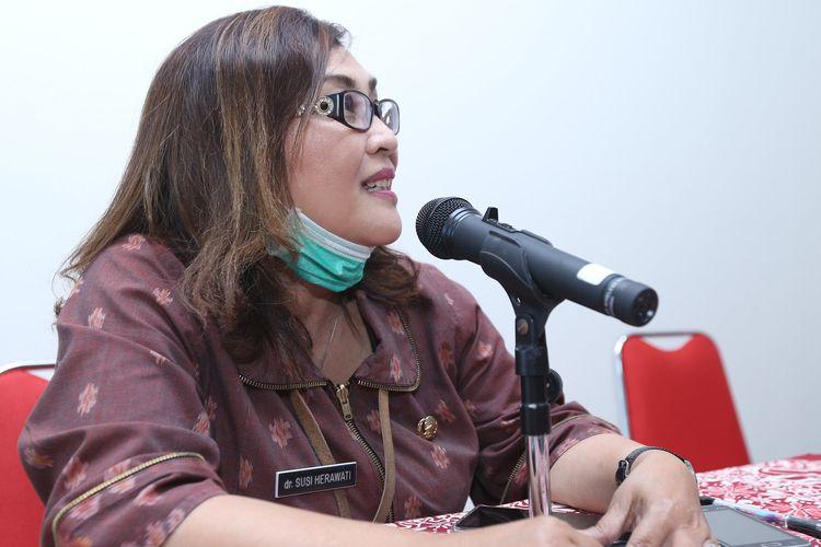 RSUD KRMT Wongsonegoro Susi Herawati mengumumkan 1 pasien di Semarang dinyatakan sembuh.