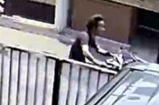 Terduga Penyiram Air Keras ke Siswi SMP di Kembangan Terekam CCTV