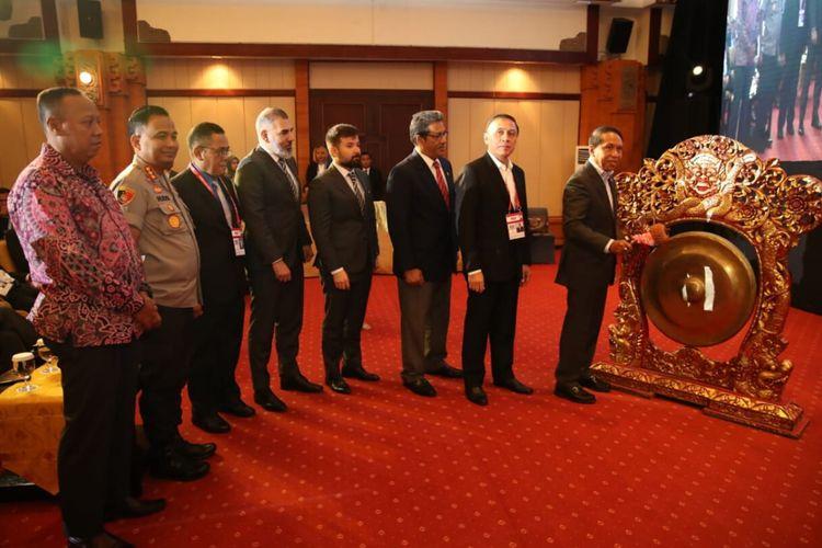 Mepora Zainudin Amali saat membuka Kongres Biasa PSSI di Hotel Discovery Kartika, Bali, pada Sabtu (25/1/2020).