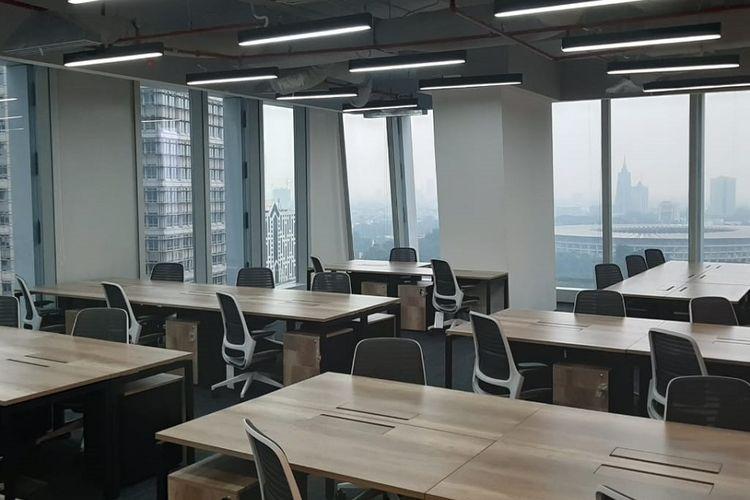 Salah satu ruang di co-working space JustCo di Sequis Tower, Jakarta.