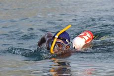 Dihadiahi Mobil, Marinir Pemenang Lomba Renang Seberangi Selat Sunda Sejauh 39 Km