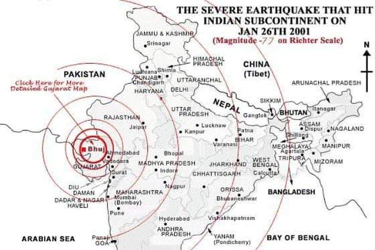 Gempa Gujarat India 26 Januari 2001