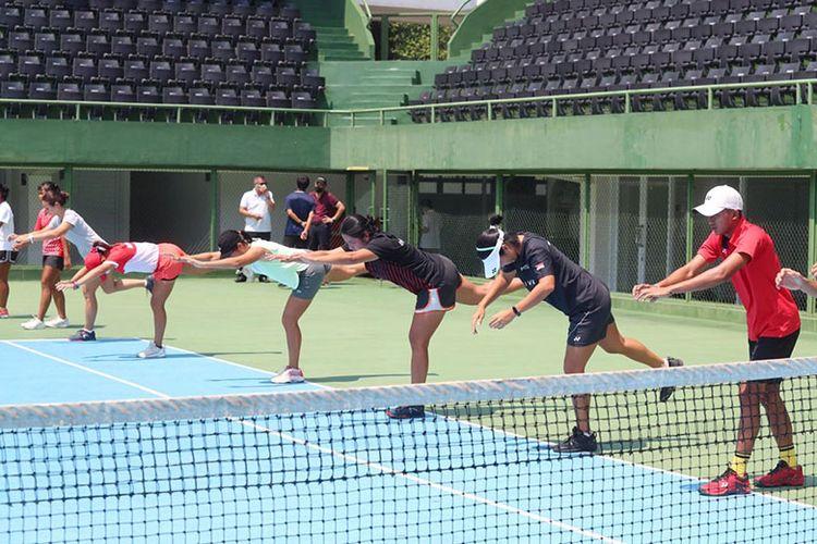 Pelatnas 2020 cabang olahraga tenis dilakukan di Jakarta.