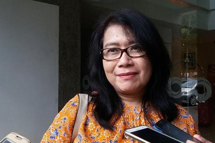 Deputi V Kantor Staf Presiden Jaleswari Pramodhawardani di Jakarta, Kamis (17/3/2016)